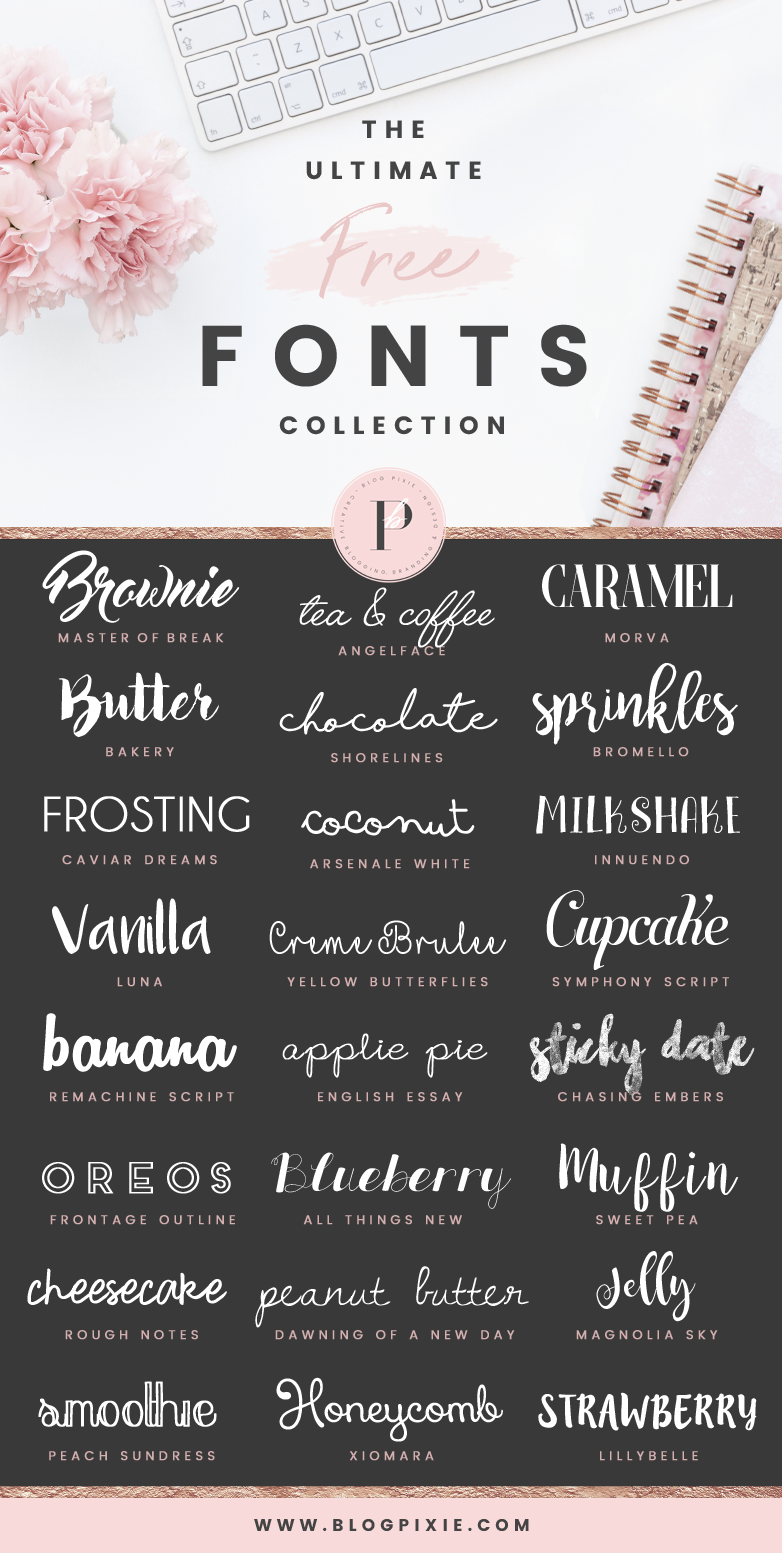 The Ultimate Free Fonts Collection | Blog Pixie best font downloads