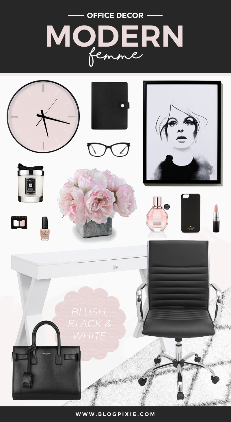Office Decor Inspiration Modern Femme Blog Pixie