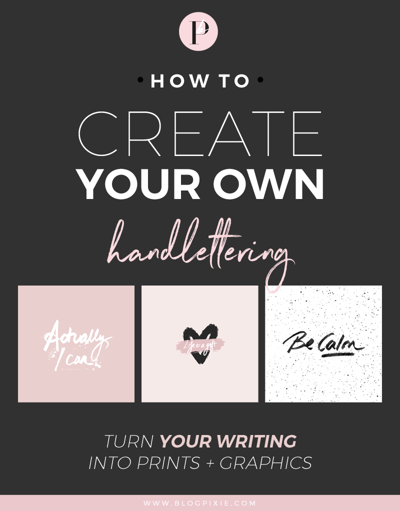 How to create your own hand lettering with Photoshop