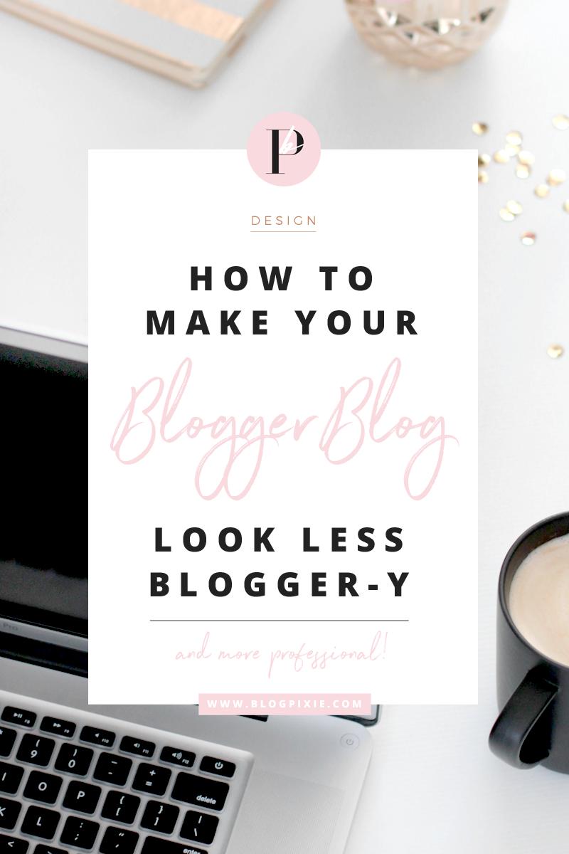 how to change blogger blog design