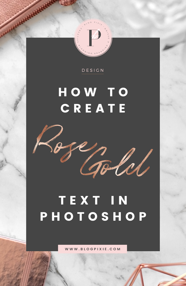 how to create rose gold text photoshop