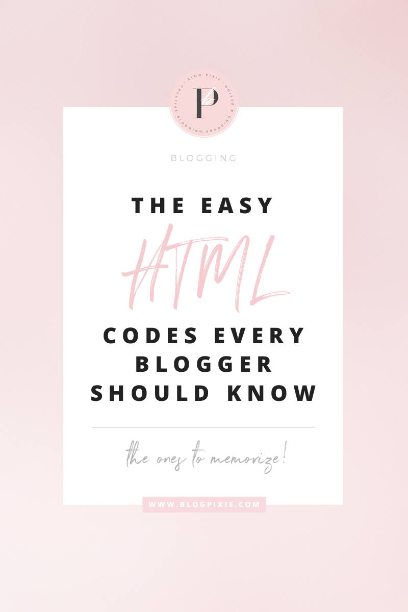 HTML coding for Blogger. Learn easy HTML codes for your blog.