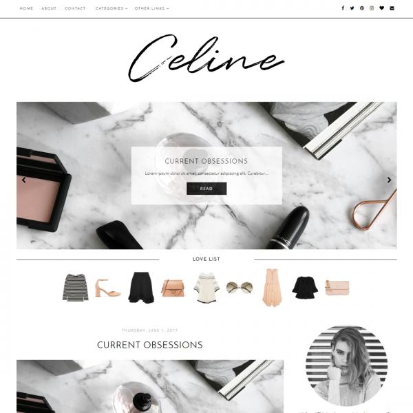fashion blogger theme template blogspot