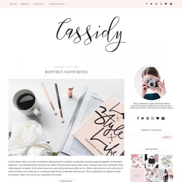 Cassidy Blog Template