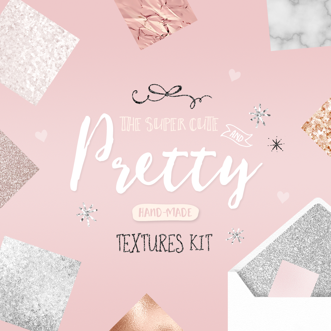 Pretty Textures Kit By Blog Pixie Marble Rose Gold Glitter Foil