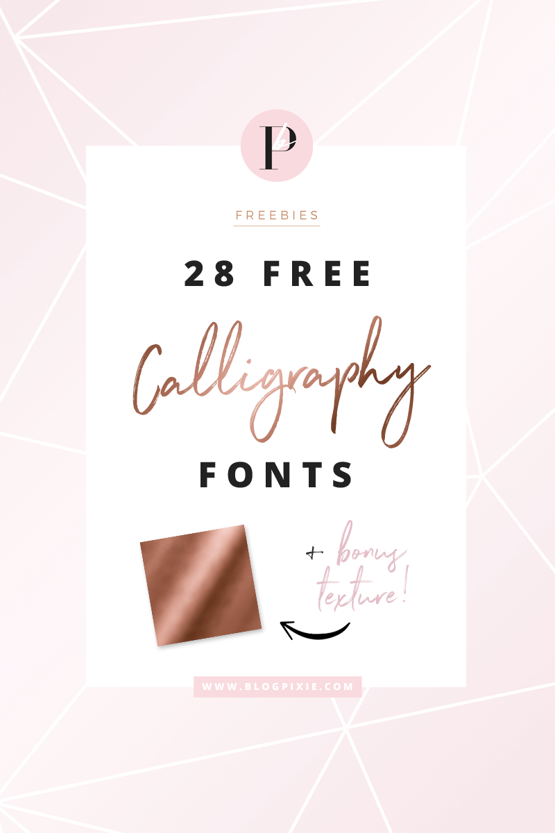 Free Calligraphy Brush Script Fonts