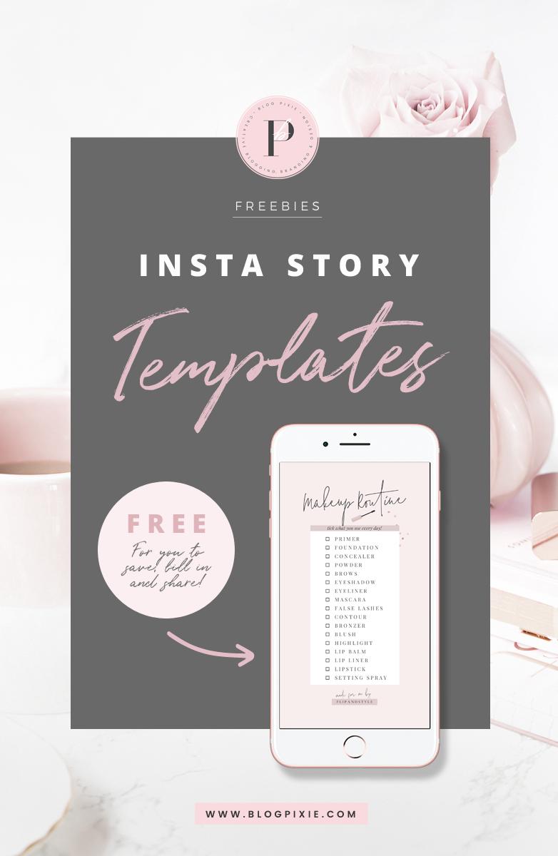 free instagram story templates blog pixie. Black Bedroom Furniture Sets. Home Design Ideas