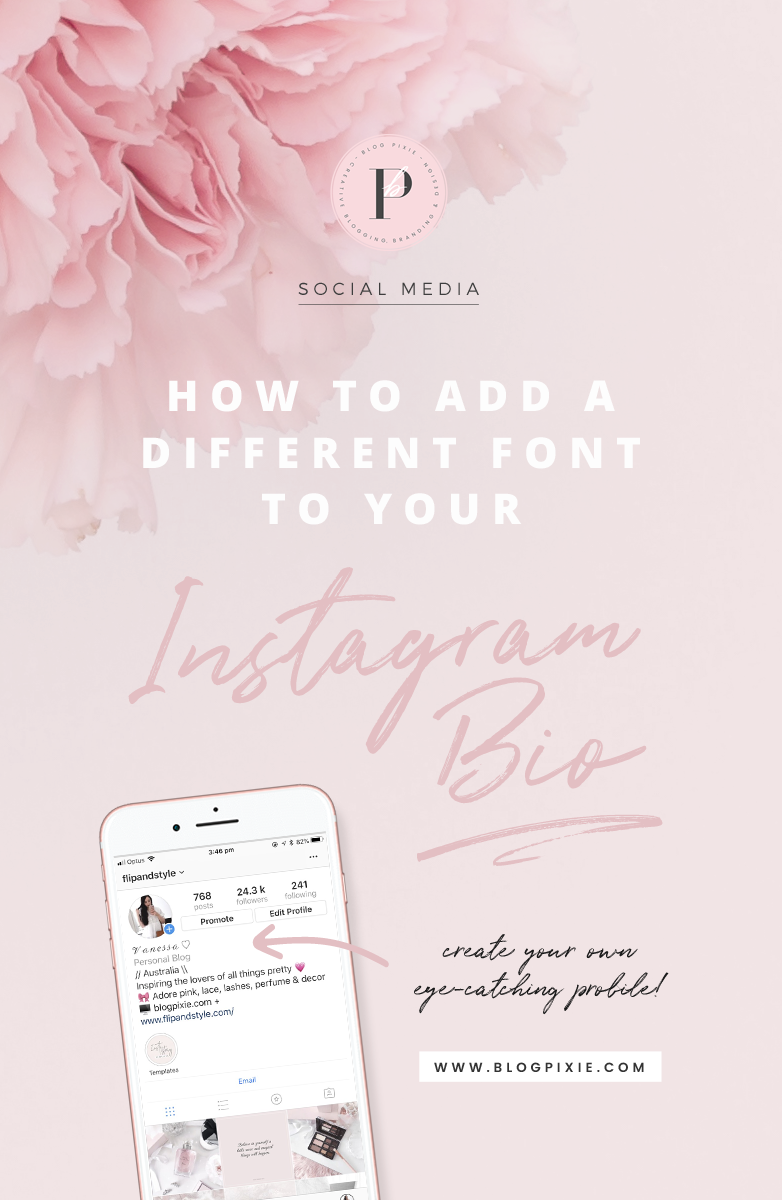 How To Change The Font In Your Instagram Bio ⋆ Blog Pixie