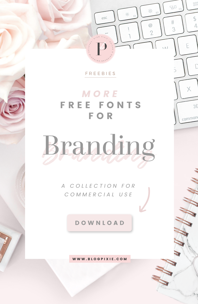 Free fonts for logos and branding