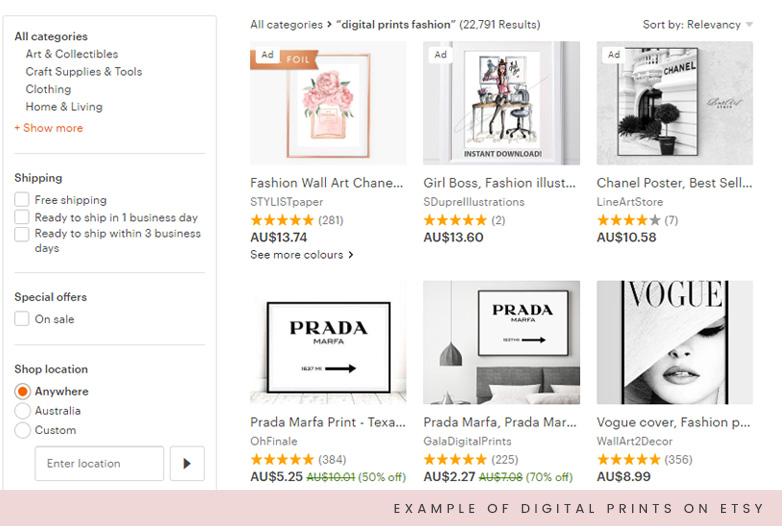 Make money blogging Etsy