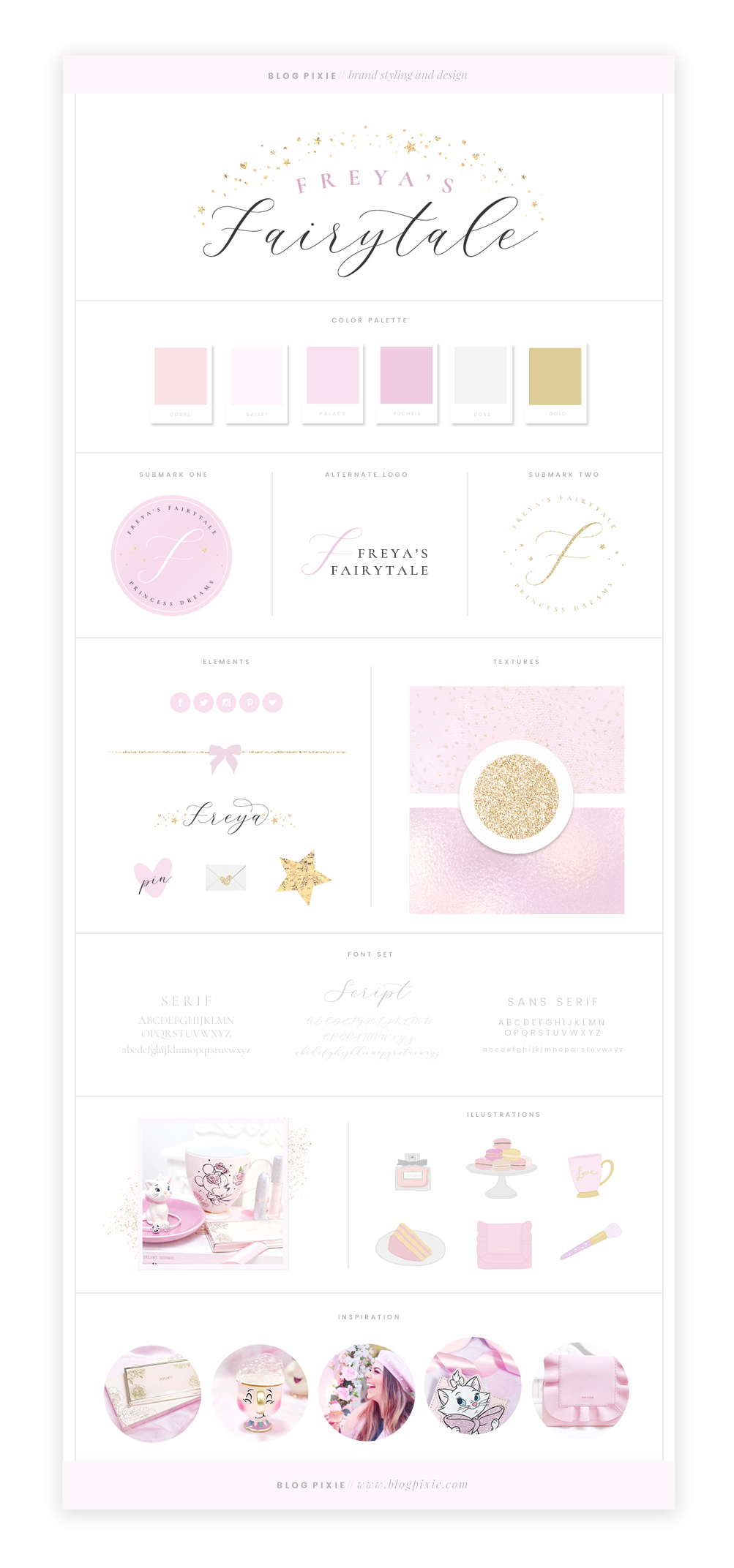 Freya's Fairytale brand and blog design