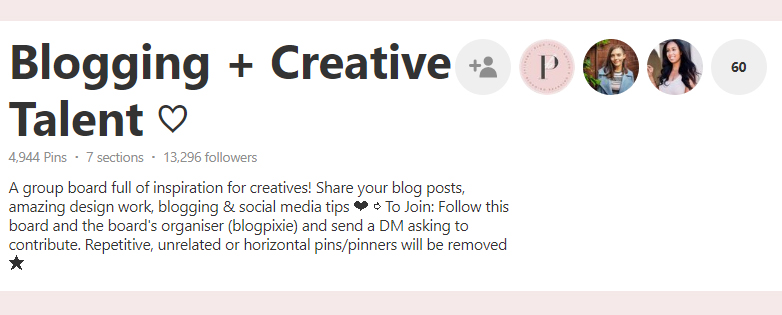 Pinterest Group Boards to join
