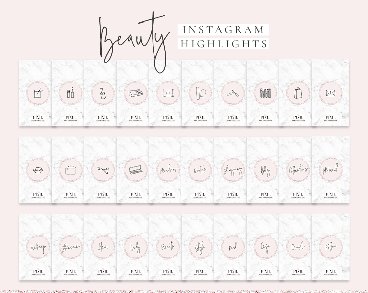 Instagram Story Highlight Icons Download Pink Beauty Instagram Covers
