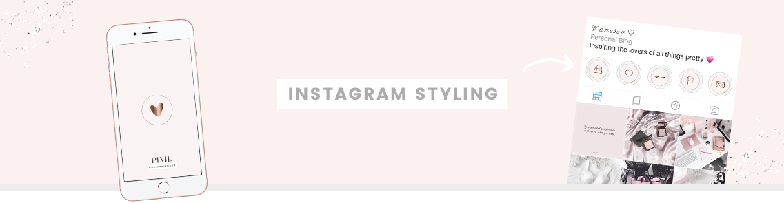 Instagram Highlight Icons - Rose Gold and Marble Covers