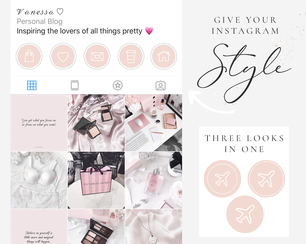 Instagram Story Highlight Icons Peach And White Blog Pixie
