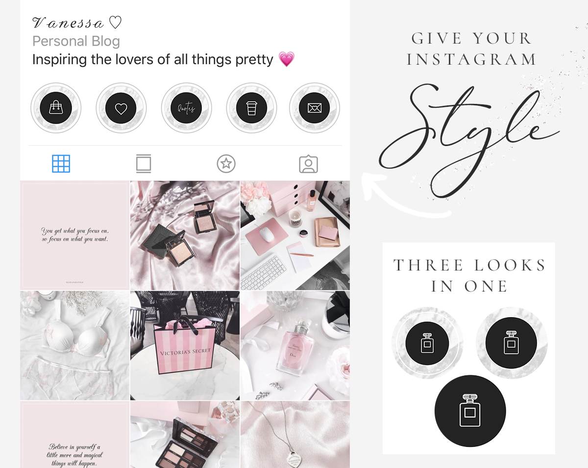 Instagram Highlight Icons Black White And Marble Blog Pixie