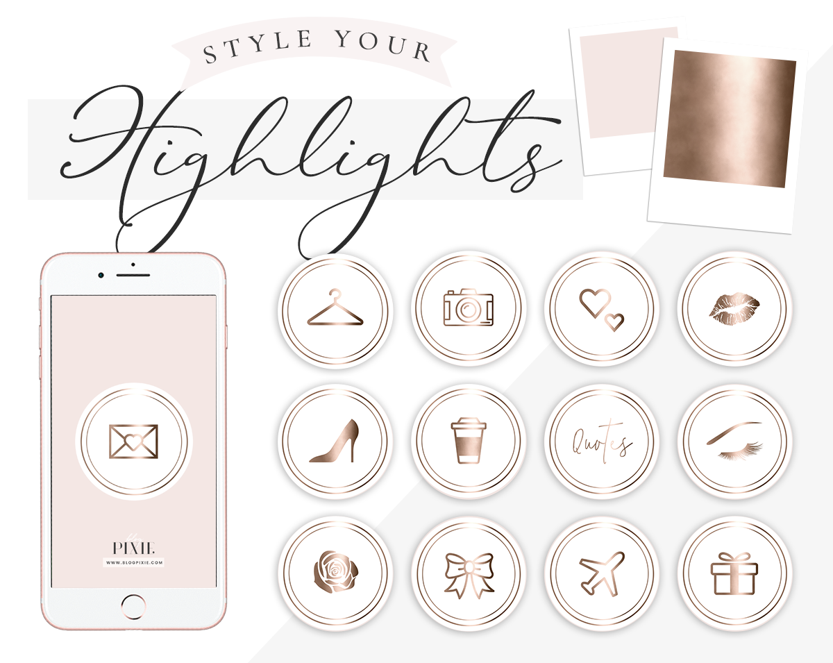 Instagram Highlight Icons White And Rose Gold Blog Pixie