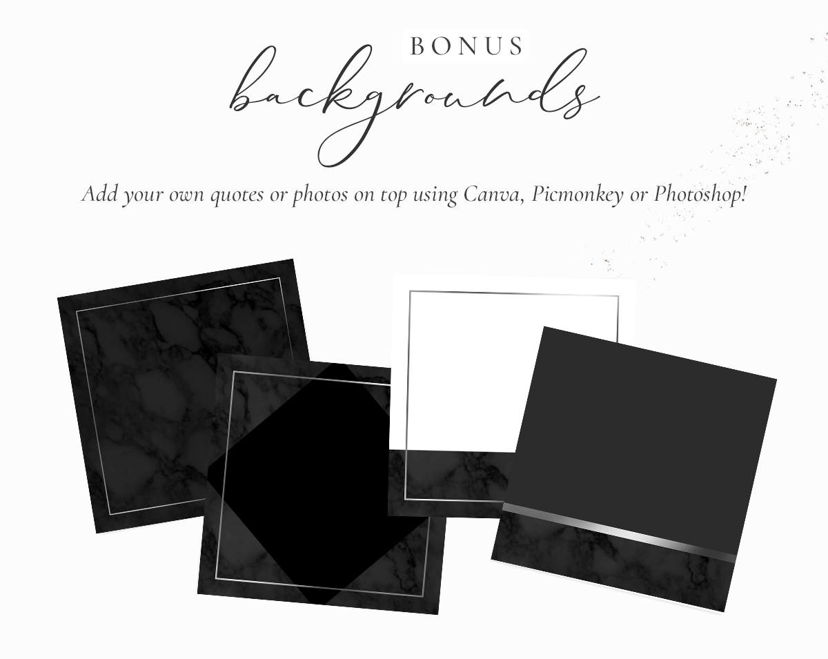 Instagram Highlight Icons Silver Black Marble Blog Pixie