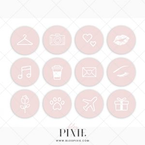 Pink Ios 14 App Icons Iphone App Covers Aesthetic Home Screen