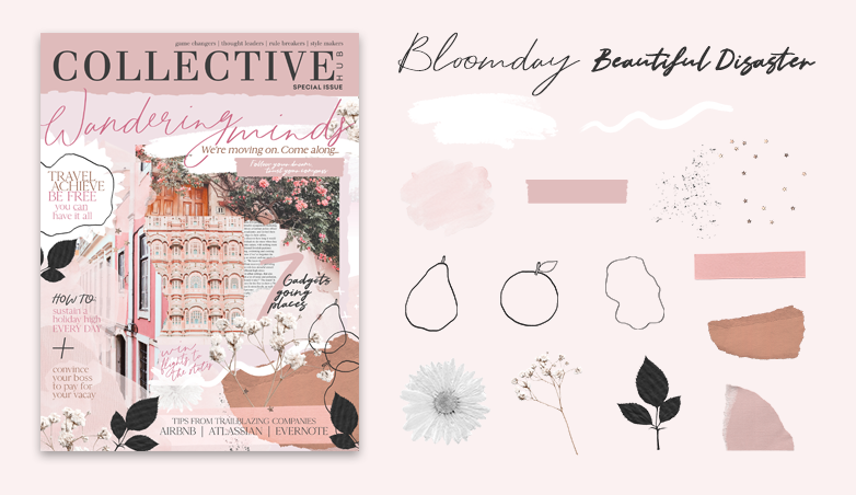 Collective Hub magazine cover design