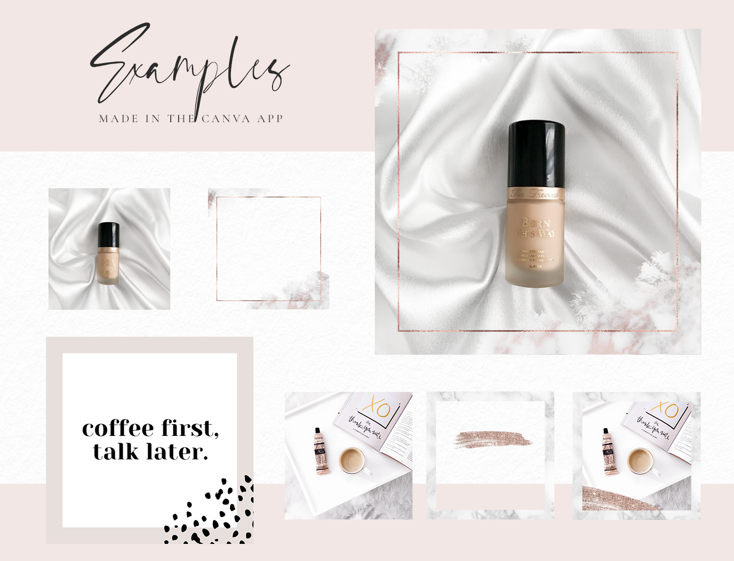 Instagram Post Templates – Rose Gold & Marble