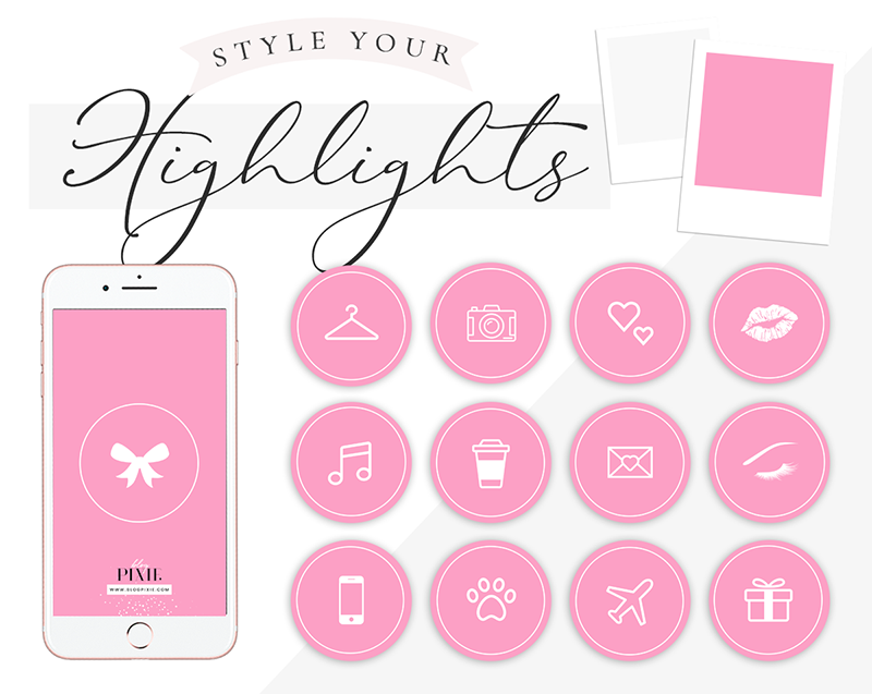 Instagram Highlight Icons Hot Pink And White Blog Pixie