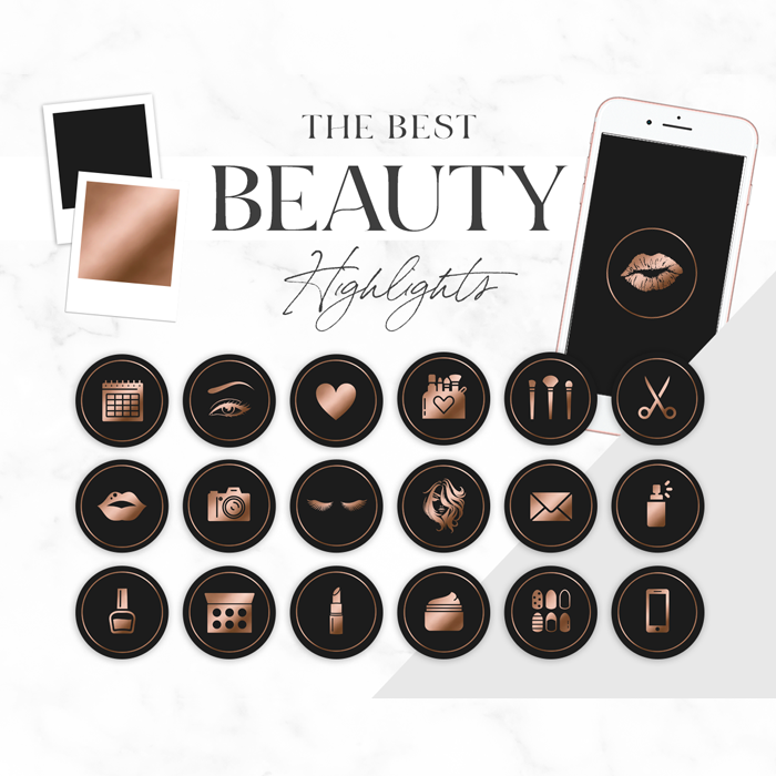 Beauty Font For Instagram: Instagram Highlight Icons For Makeup Artist, Lash Arist