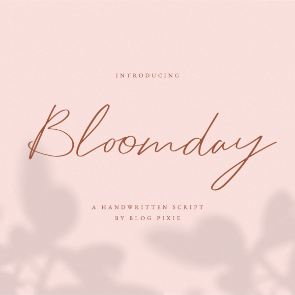 Bloomday Script Font