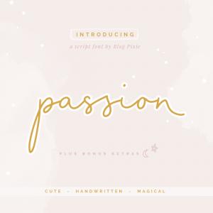 Passion Script Font by Blog Pixie