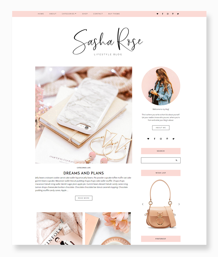 Sasha Rose WordPress Theme