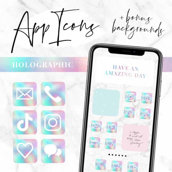 Holographic app icons