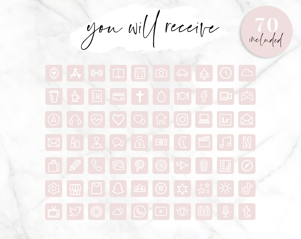 Pastel Pink And White App Icons Blog Pixie Facebook, speaker (don't include color names, only english). pastel pink and white app icons