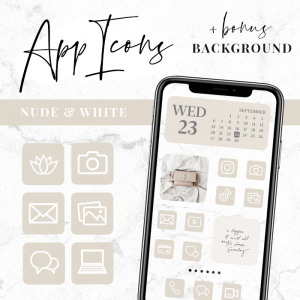 beige cream app icons ios 14