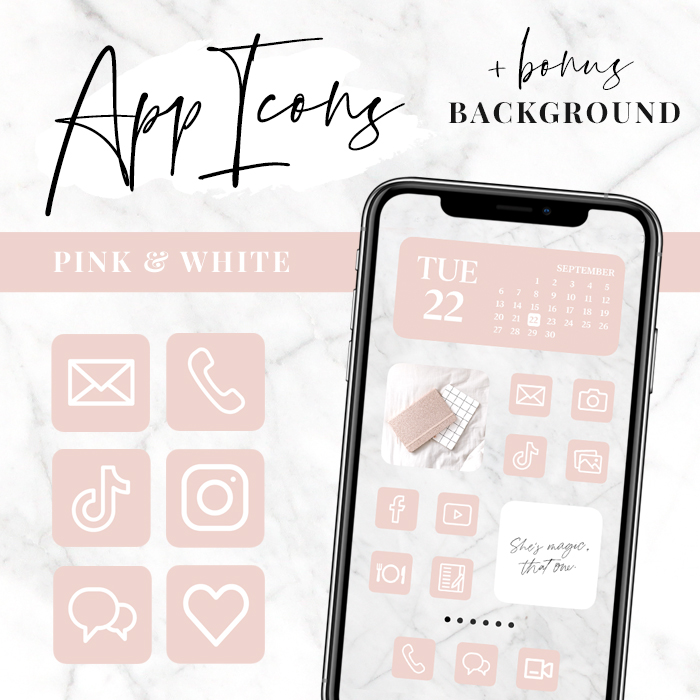 Pink Ios 14 App Icons Iphone App Covers Aesthetic Home Screen Le mans 2020 winner car. pink iphone app icons