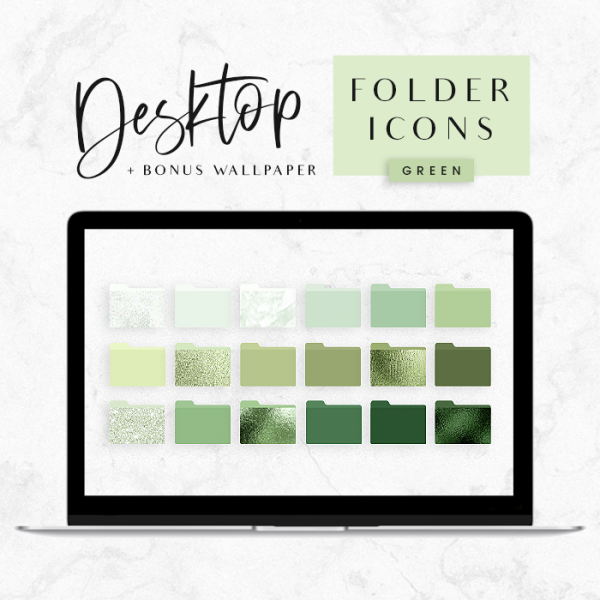 Desktop Folder Icons Green