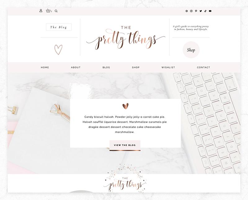 feminine wix blog template