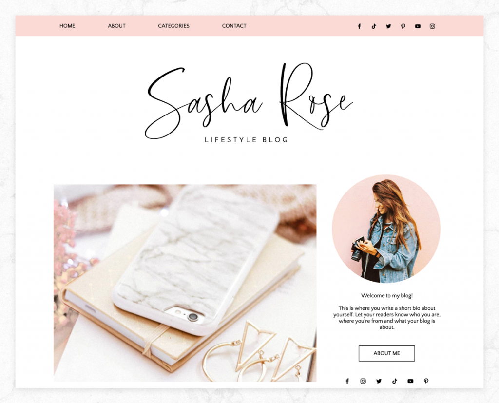 wix blog design